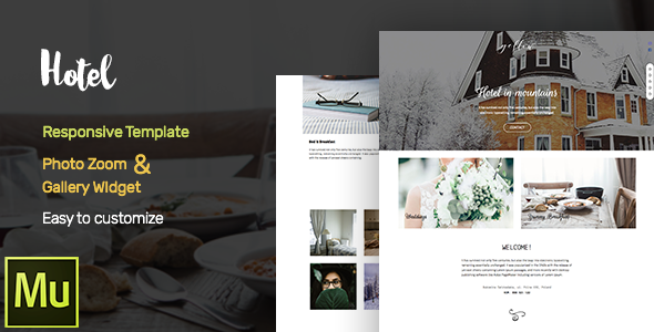 Hotel -  Adobe Muse CC Responsive Template + Gallery Widget