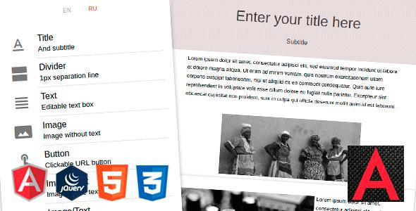 Angular MJML Drag & Drop Email Template Builder - CodeCanyon Item for Sale