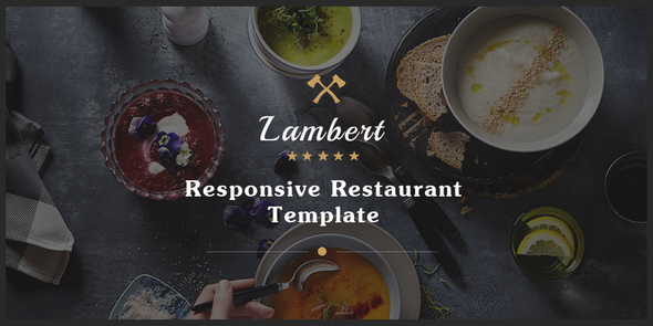 Lambert - Restaurant / Cafe / Pub Template