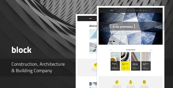 Block — Construction, Architecture, Building Company PSD Template