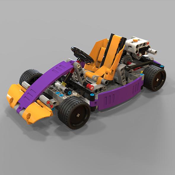 Lego kart - 3DOcean Item for Sale