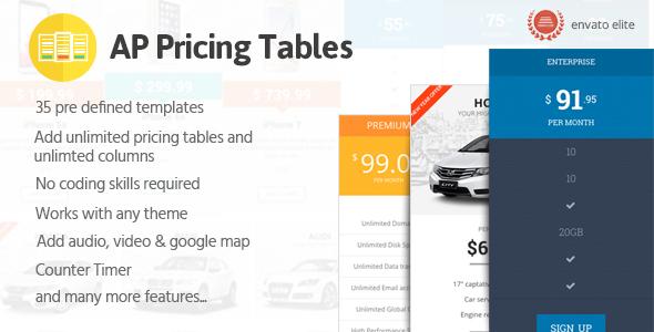 AP Pricing Tables – Responsive Pricing Table Builder Plugin for WordPress (Utilities)
