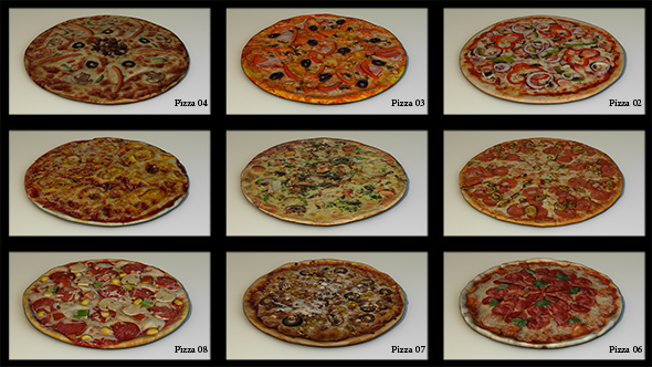 11 pizza pack HP - 3DOcean Item for Sale
