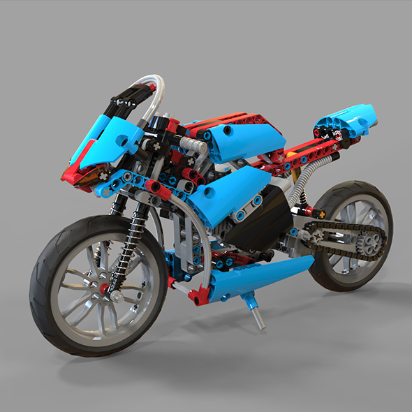 Lego Motorcycles - 3DOcean Item for Sale