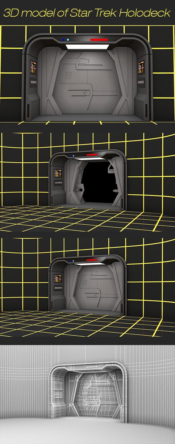 3D model of Star Trek Holodeck - 3DOcean Item for Sale