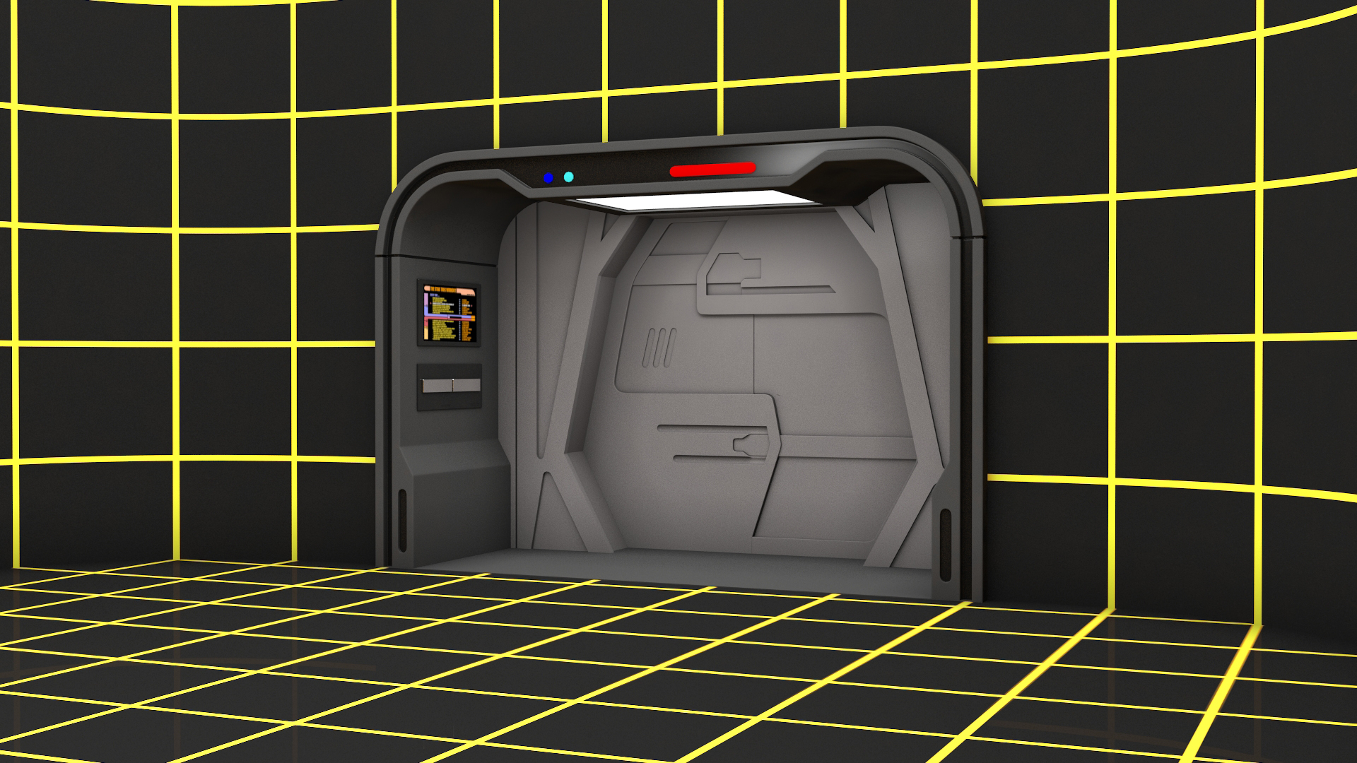 3d Model Of Star Trek Holodeck By Alexei Sviridov 3docean