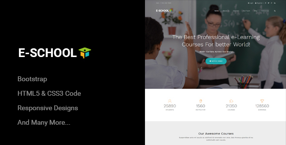E-School - Professional Learning and Courses HTML5 Template