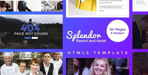 Splendor –Resort and Hotel HTML5 Template