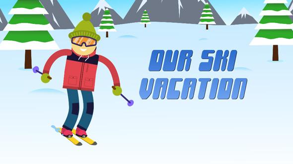 VideoHive Ski Vacation Slideshow 19446570