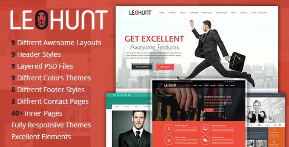 LeoHunt – Responsive Multi-Purpose HTML5 Template (Corporate) Download