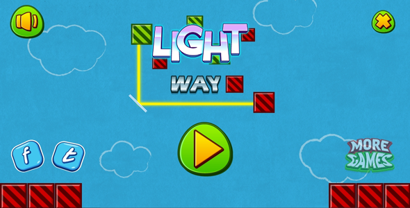 Light way - HTML5 logic game. Construct 2 (.capx)