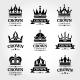 Royal Vector Crown Emblems in Black