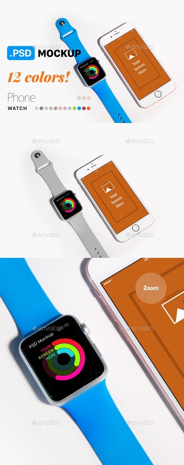 Phone & Watch Mockup