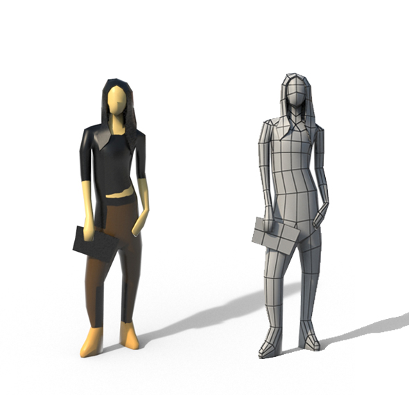 Low Poly Girl 01 - 3DOcean Item for Sale