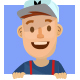 Deliveryman Cartoon Mascot