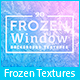 20 Frozen Window Background Textures