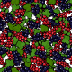Seamless Redcurrant and Blackcurrant Pattern