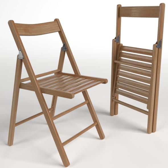 Wooden Folding Chairs - 3DOcean Item for Sale