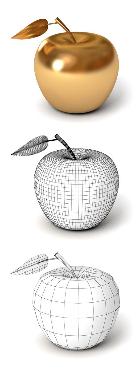 Golden Apple - 3DOcean Item for Sale