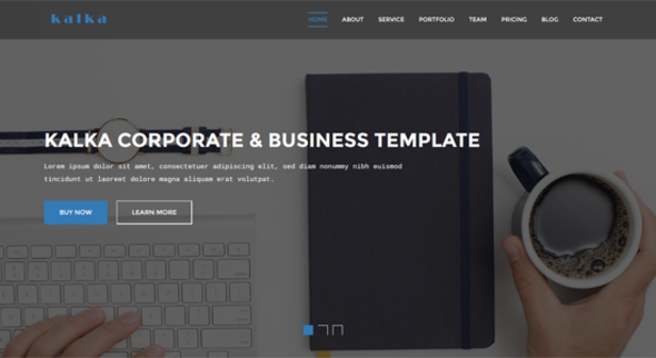 kalka – One Page Business & Corporate Template (Business) Download