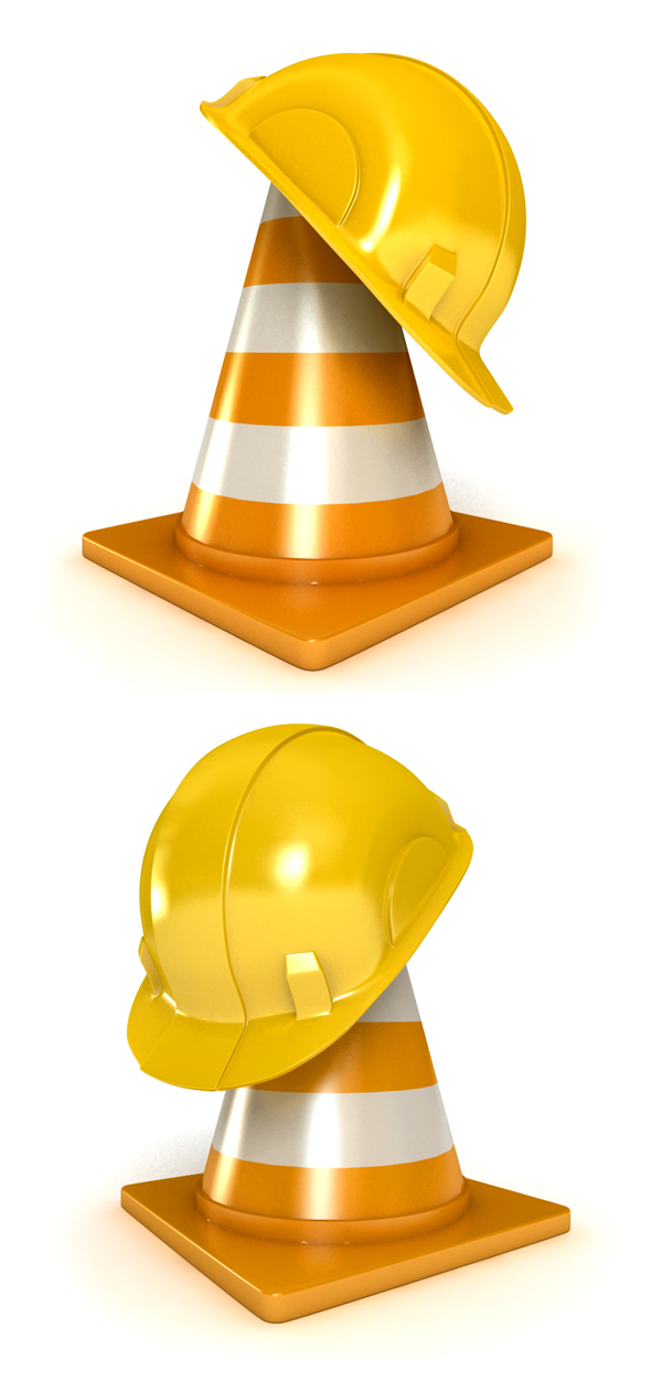 3DOcean Helmet and Traffic Cones 19449617