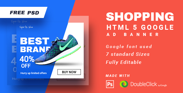 Download Shopping - HTML5 Animated Banner 15