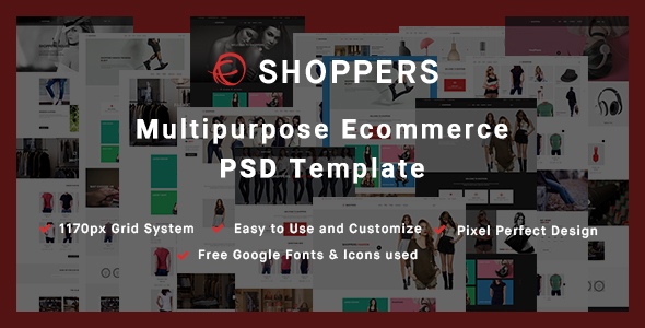 Shoppers - Multipurpose Ecommerce PSD Template