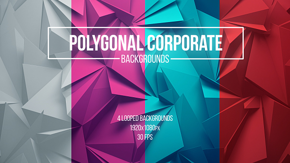 VideoHive Polygonal Corporate Backgrounds 19450016