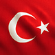 Turkey Flag Waving - Turkish Texture