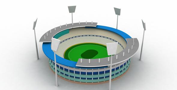 3DOcean Stadium Icon 3d 19450195