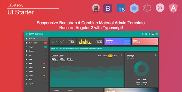 Lokra angular 2 admin template with bootstrap 4 and material lokra angular 2 admin template with bootstrap 4 and material design admin templates pronofoot35fo Image collections