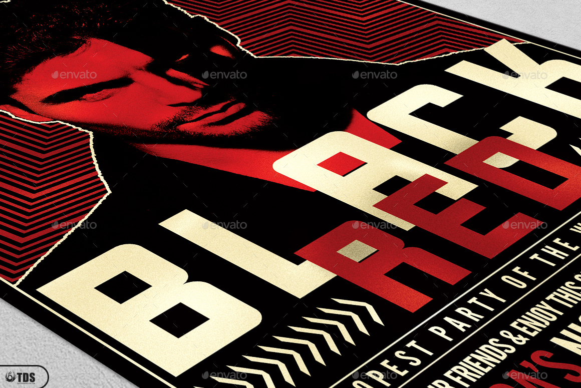Black and Red Flyer Template V3 by lou606 – Red Flyer Template