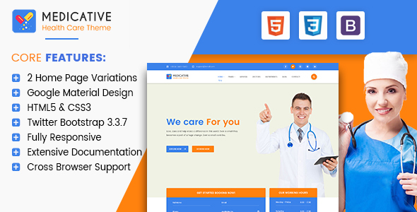 Medicative – Responsive Medical HTML Template (Health & Beauty) images
