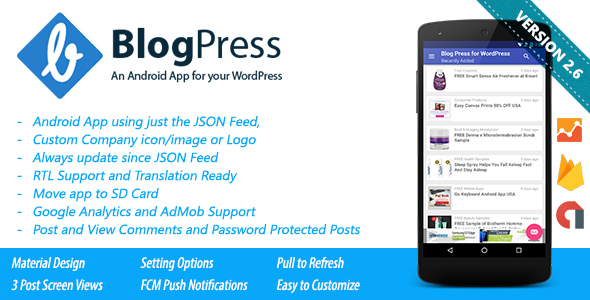 blogpress an android app for your wordpress by stealthysam codecanyon