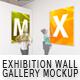 Exhibition Wall Gallery Mockup