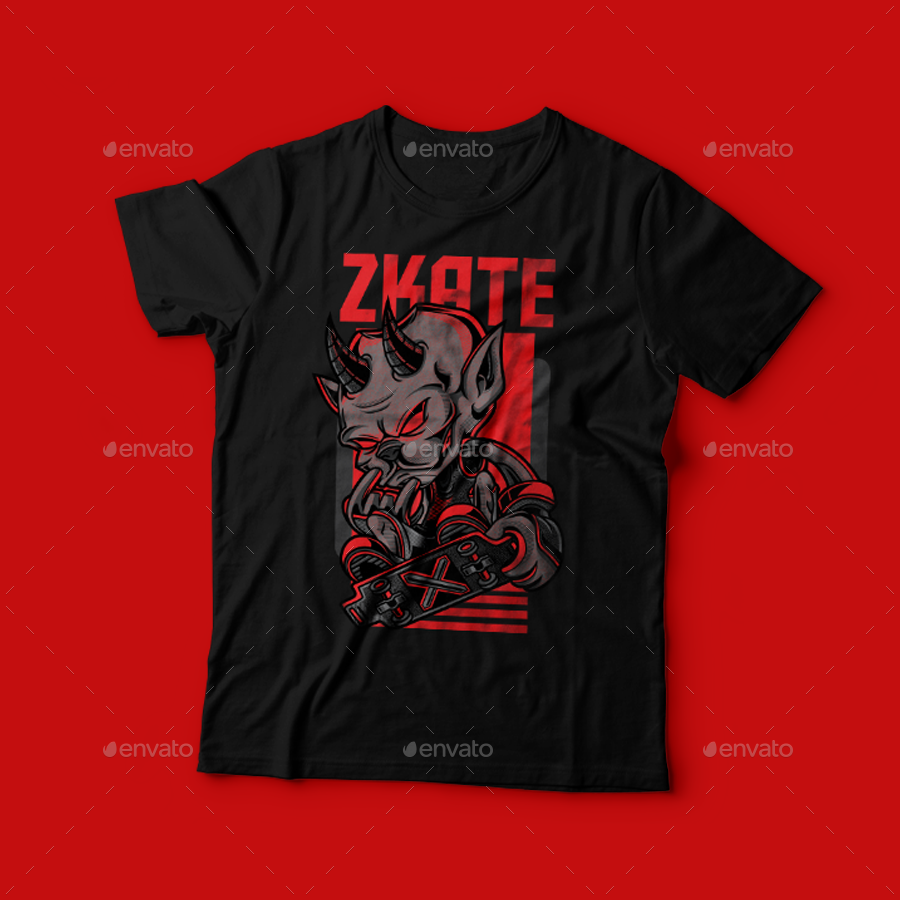 T shirt design red - Preview Png