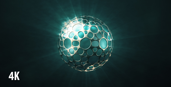 VideoHive Shining Sphere In The Glossy Shell 19451662