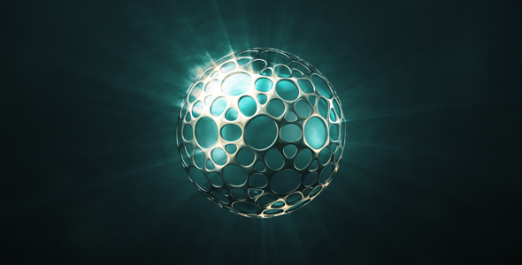 VideoHive Shining Sphere In The Glossy Shell 19451711