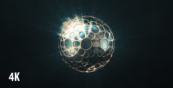 VideoHive Shining Sphere In The Golden Shell 19451745