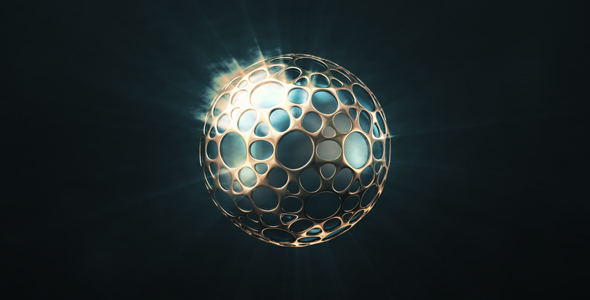 VideoHive Shining Sphere In The Golden Shell 19451765