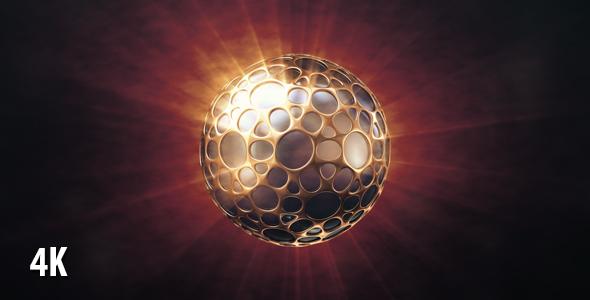 VideoHive Dark Sphere In The Golden Shell 19451795
