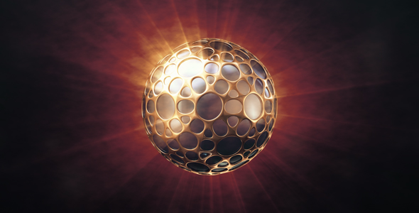 VideoHive Dark Sphere In The Golden Shell 19451832