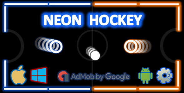 Download Neon Hockey - Local Multiplayer + Admob (Construct 2 - CAPX)