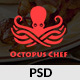 Octopus Chef - Restaurants and Cafes PSD Template