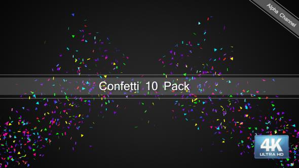 VideoHive Confetti 4K 19452395