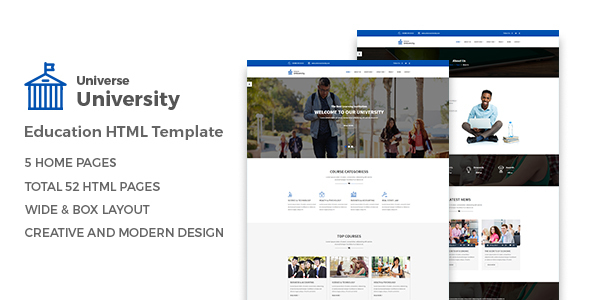 Universe – Education HTML Template (Nonprofit) images