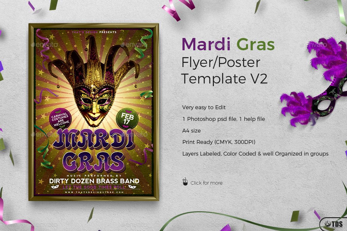 mardi gras flyer template v2 by lou606 graphicriver 01 mardi gras flyer template v2 jpg