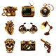 Steampunk Icons Vector Set