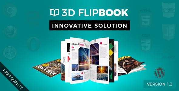 Interactive 3D FlipBook Powered Physics Engine WordPress Plugin - CodeCanyon Item for Sale