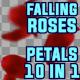 Falling Roses Petals Pack 10 in 1